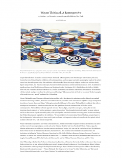 "Photograph of ""Wayne Thiebaud: A Retrospective"""