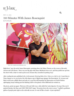 "Photograph of ""110 Minutes With ... James Rosenquist"""