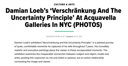 "Photograph of ""Damian Loeb's 'Verschränkung And the Uncertainty Principle' At Acquavella Galleries In NYC (PHOTOS)"""