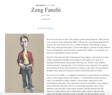 "Photograph of ""Review of Zeng Fanzhi"""