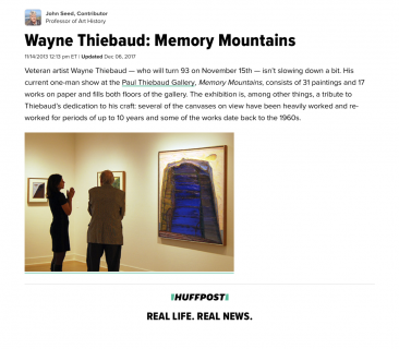 """Wayne Thiebaud: Memory Mountains"""