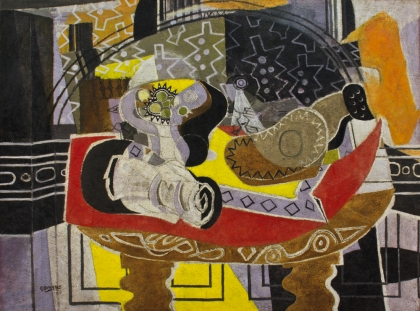 Georges Braque, Still Life with Guitar I (Red Tablecloth), 1936