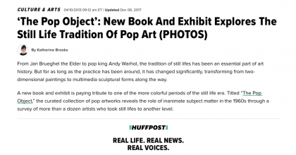 "Photograph of ""The Pop Object: New Book and Exhibit Explores the Still Life Tradition of Pop Art"""