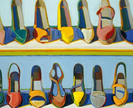 Wayne Thiebaud, Shoe Rows, 1971