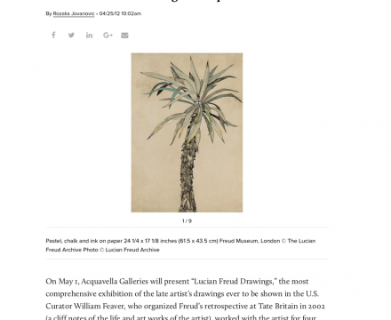 """Photograph of """"Lucian Freud's Drawings at Acquavella Galleries"""""""