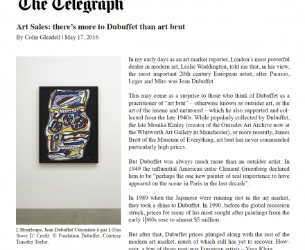 """The Telegraph, """"Art Sales: there's more to Dubuffet than art brut"""""""