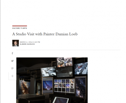 "Photograph of ""A Studio Visit with Painter Damian Loeb"""