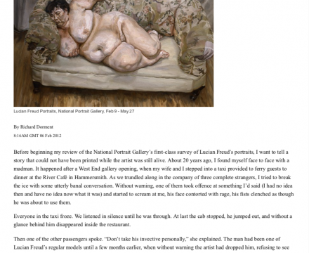 """Photograph of """"Review: A show that proves Freud's greatness"""""""