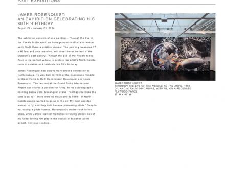 "Photograph of ""James Rosenquist Exhibition Celebrating His 80th Birthday"""