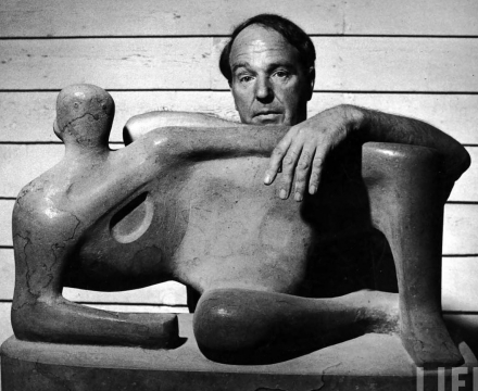Photograph of Henry Moore
