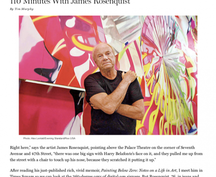 """Photograph of """"110 Minutes With ... James Rosenquist"""""""