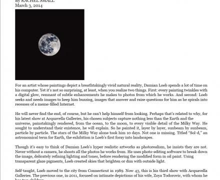 "Photograph of ""Damian Loeb's Universe by Rachel Small"""