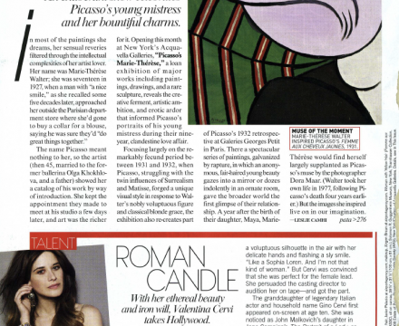 """Photograph of """"Dream Lover: An Exuberant Show Celebrates Picasso's Young Mistress and her Bountiful Charms"""""""