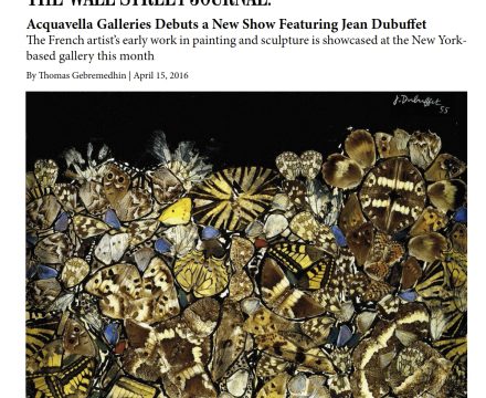 """The Wall Street Journal, """"Acquavella Galleries Debuts a New Show Featuring Jean Dubuffet"""""""