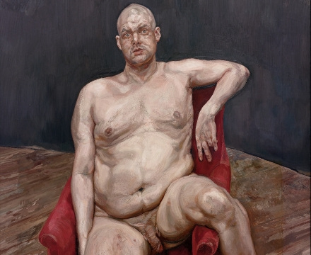Lucian Freud, Leigh Bowery (Seated), 1990