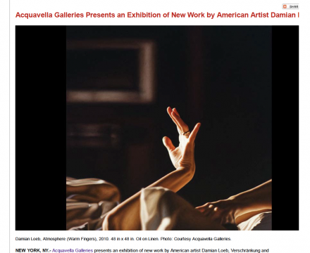 "Photograph of ""Acquavella Galleries Presents an Exhibition of New York by American Artist Damian Loeb"""