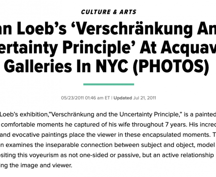 """Photograph of """"Damian Loeb's 'Verschränkung And the Uncertainty Principle' At Acquavella Galleries In NYC (PHOTOS)"""""""