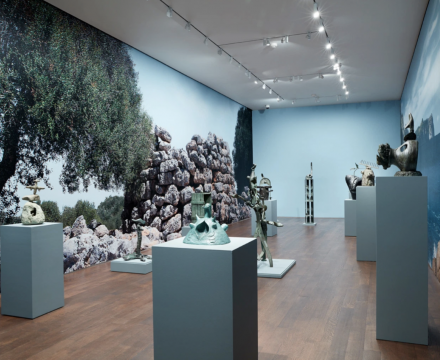 Installation view of 'Miró the Sculptor: Elements of Nature'