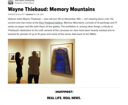 """""""Wayne Thiebaud: Memory Mountains"""""""