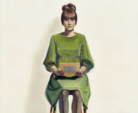 Thiebaud, Green Dress, 1966