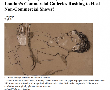 """Photograph of """"'Museum-Quality' Moneymakers: Why are London's Commercial Galleries Rushing to Host Non-Commercial Shows?"""""""
