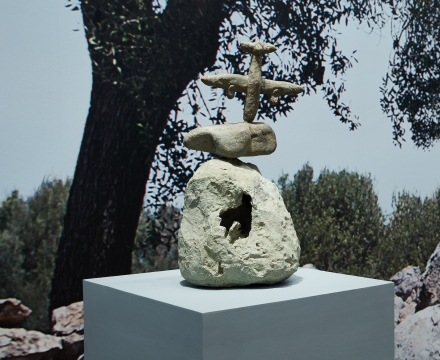 """Installation view of """"Miró the Sculptor: Elements of Nature"""""""