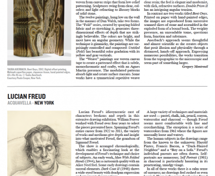 "Photograph of ""Lucian Freud Review by Gregory Montreuil"""