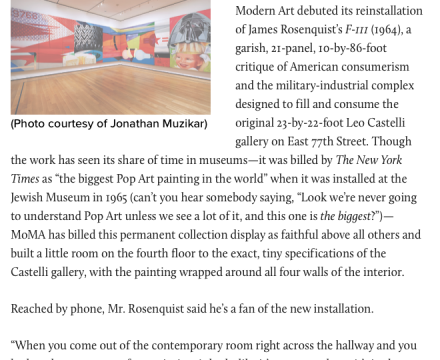 """Photograph of """"Leography: James Rosenquist at MoMA"""""""