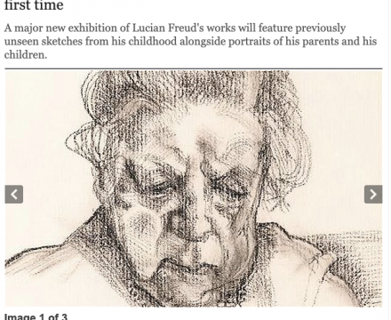 "Photograph of ""Unseen masterpieces by Lucian Freud unveiled for the first time"""