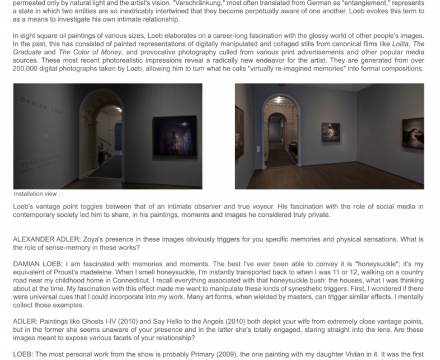 "Photograph of ""Damian Loeb: Art in America"""