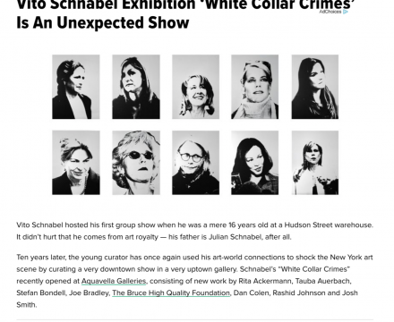 """Photograph of """"Vito Schnabel Exhibition 'White Collar Crimes' Is An Unexpected Show"""""""