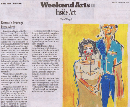 """Photograph of """"Basquiat's Drawings Reconsidered"""""""