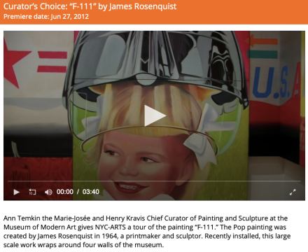 "Photograph of ""Curator's Choice: 'F-111' by James Rosenquist"""