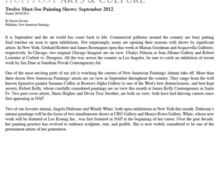 """Photograph of """"Twelve Must-See Painting Shows: September 2012"""""""