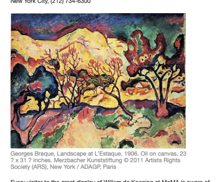 """Photograph of """"Development Issues: Georges Braque at Acquavella Galleries"""""""