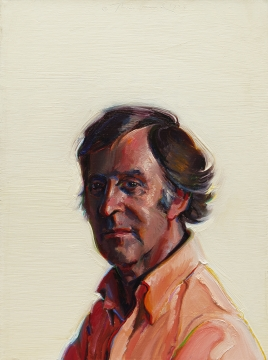 Wayne Thiebaud, Man in an Orange Shirt, 1975