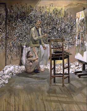 Lucian Freud, The Painter Surprised by a Naked Admirer, 2004-2005