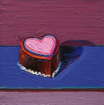 Wayne Thiebaud, Dark Heart Cake, 2014