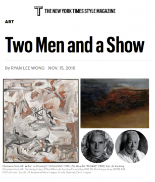 The New York Times Style Magazine, Two Men and a Show