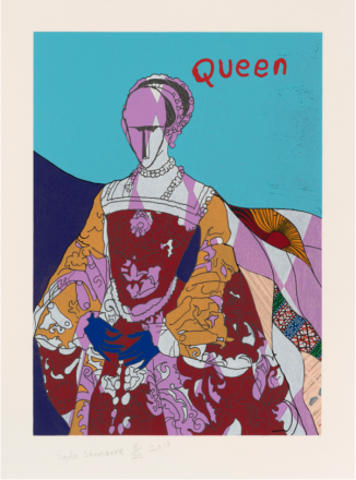 Yinka Shonibare, Queen I, from Unstructured Icons, 2018, Relief print