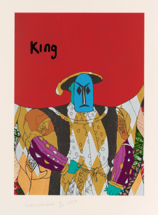 Yinka Shonibare, King, from Unstructured Icons, 2018, Relief print