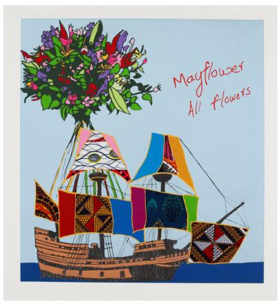 Yinka Shonibare, Mayflower All Flowers, 2020, Relief print