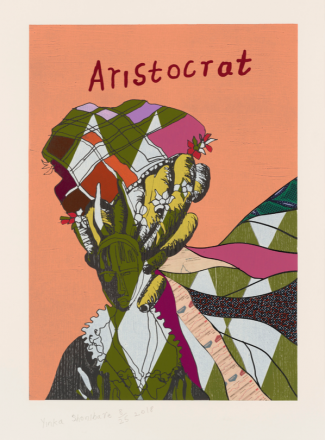 Yinka Shonibare, Aristocrat II, from Unstructured Icons, 2018, Relief print