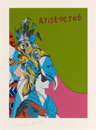 Yinka Shonibare, Aristocrat I, from Unstructured Icons, 2018, Relief print