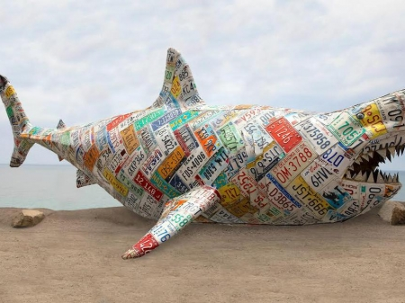 RISK's Colossal Shark Charges Auction World, Challenges Art History, With Stupendous Display At Phillips