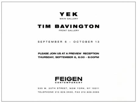 """Yek and Tim Bavington"" by Dave Hickey"