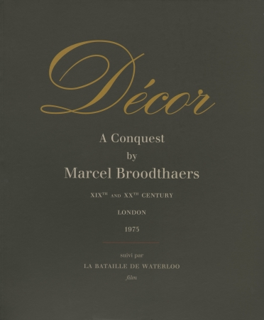 Marcel Broodthaers: Décor