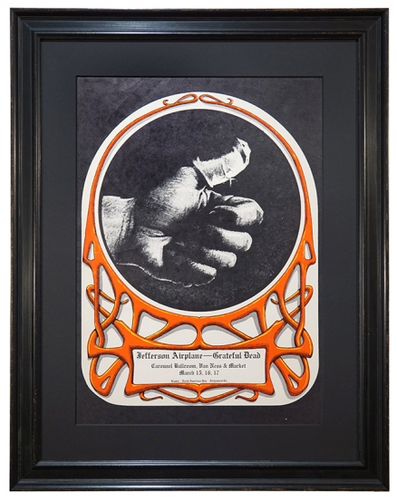 AOR 2.172 Grateful Dead poster Carousel Ballroom March 17-19, 1968 with Jefferson Airplane. Concert poster by Alton Kelley