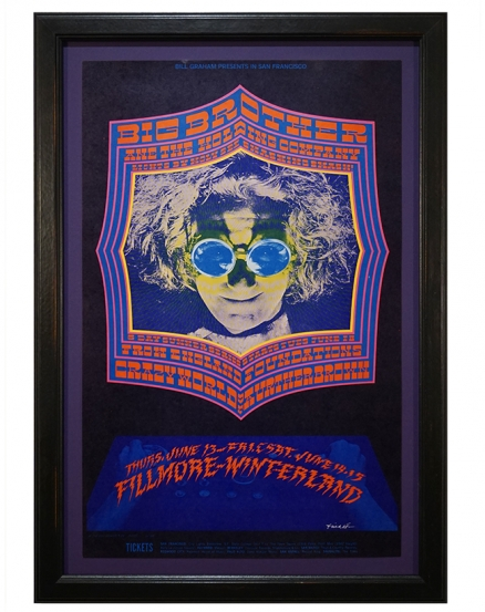 BG-124 Big Brother & the Holding Co. Poster by Bob Fried also featuring The Crazy World of Arthur Brown June 13-15 Fillmore and Winterland