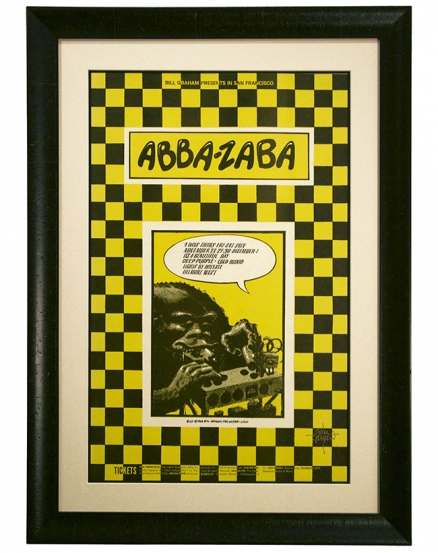 BG-147 Original 1968 Deep Purple poster by Rick Griffin called Abba Zabba. Also advertised Nov 28-Dec 1 1968 concert by It's a Beautiful Day at Fillmore West